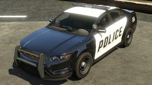 Police Cruiser (Interceptor) GTA V (vue avant)