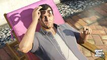 Michael(GTA V)-Sunbathing-GTAV