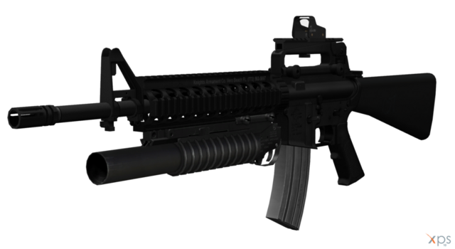 File:M16a4 with m203 grenade launcher by sadow1213-d52bckh.png