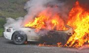 Police-Dodge-Charger-On-Fire