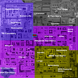 Residential satellite map gang territories