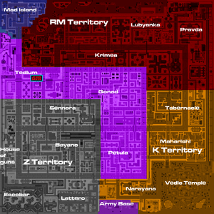 Industrial satellite map gang territories