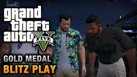 GTA 5 - Mission 39 - Blitz Play 100% Gold Medal Walkthrough