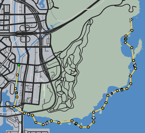 Gone Coastal GTAO Race Map