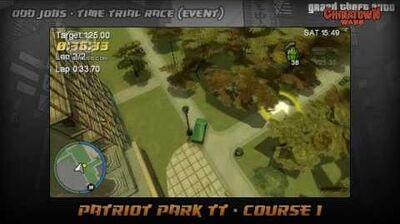 GTA Chinatown Wars - Walkthrough - Time Trial Race - Patriot Park TT - Course 1