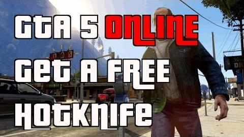 GTA 5 Online How To Get The Hotknife Free