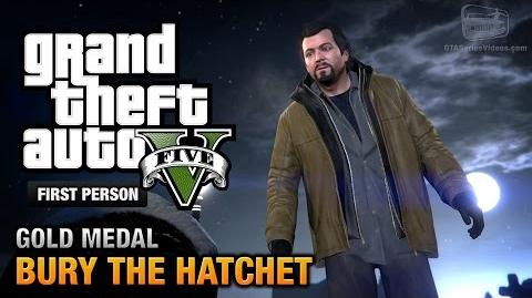 GTA 5 - Mission 57 - Bury the Hatchet First Person Gold Medal Guide - PS4