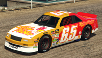 HotringSabre-GTAO-Liveries-65-LuckyPlucker-Yellow-FrontQuarter