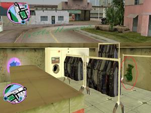 GTAVC HiddenPack 72 NE corner inside laundromat in NW Little Havana