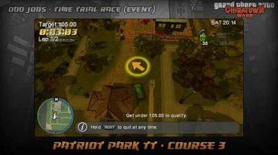 GTA Chinatown Wars - Walkthrough - Time Trial Race - Patriot Park TT - Course 3