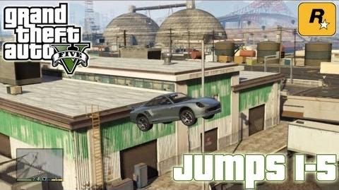 GTA5 Stunt Jumps 1-5 (Tutorial) Grand Theft Auto V PS3 Xbox 360 ᴴᴰ