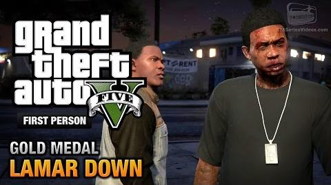 GTA 5 - Mission 70 - Lamar Down First Person Gold Medal Guide - PS4