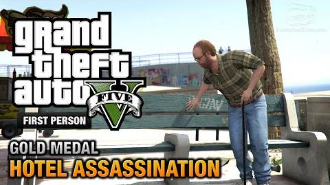 GTA 5 - Mission 33 - Hotel Assassination First Person Gold Medal Guide - PS4