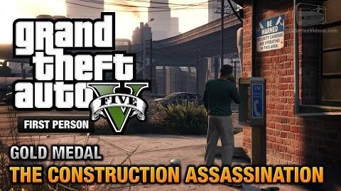 GTA 5 - Mission 48 - The Construction Assassination First Person Gold Medal Guide - PS4