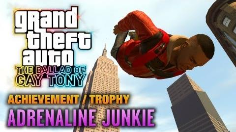 GTA The Ballad of Gay Tony - Adrenaline Junkie Achievement Trophy (1080p)