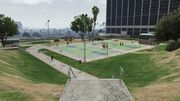 Decker Park GTAV Basketball Courts Corner