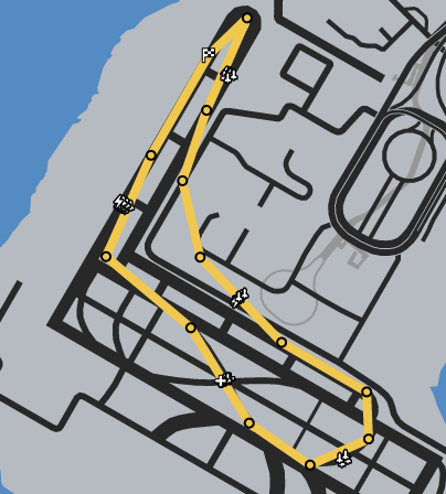 Taxiing GTAOe Race Map