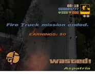 Wasted-GTA3 Firetruck