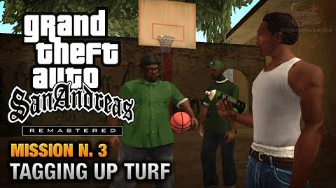 GTA San Andreas Remastered - Mission 3 - Tagging up Turf (Xbox 360 PS3)