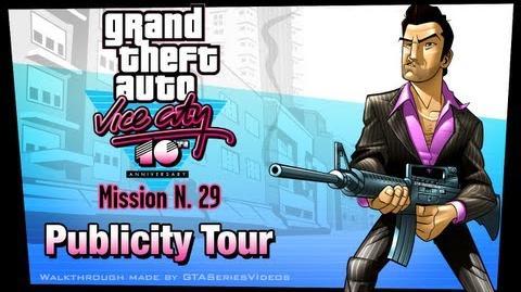 GTA Vice City - iPad Walkthrough - Mission 29 - Publicity Tour
