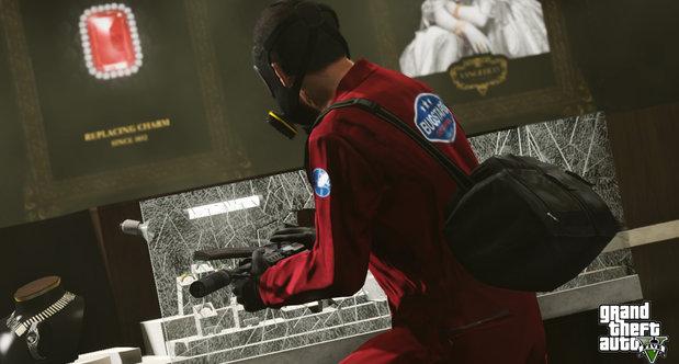 Image - The Jewelry Store Job-(GTA V)-Michael smashing a glass case ...