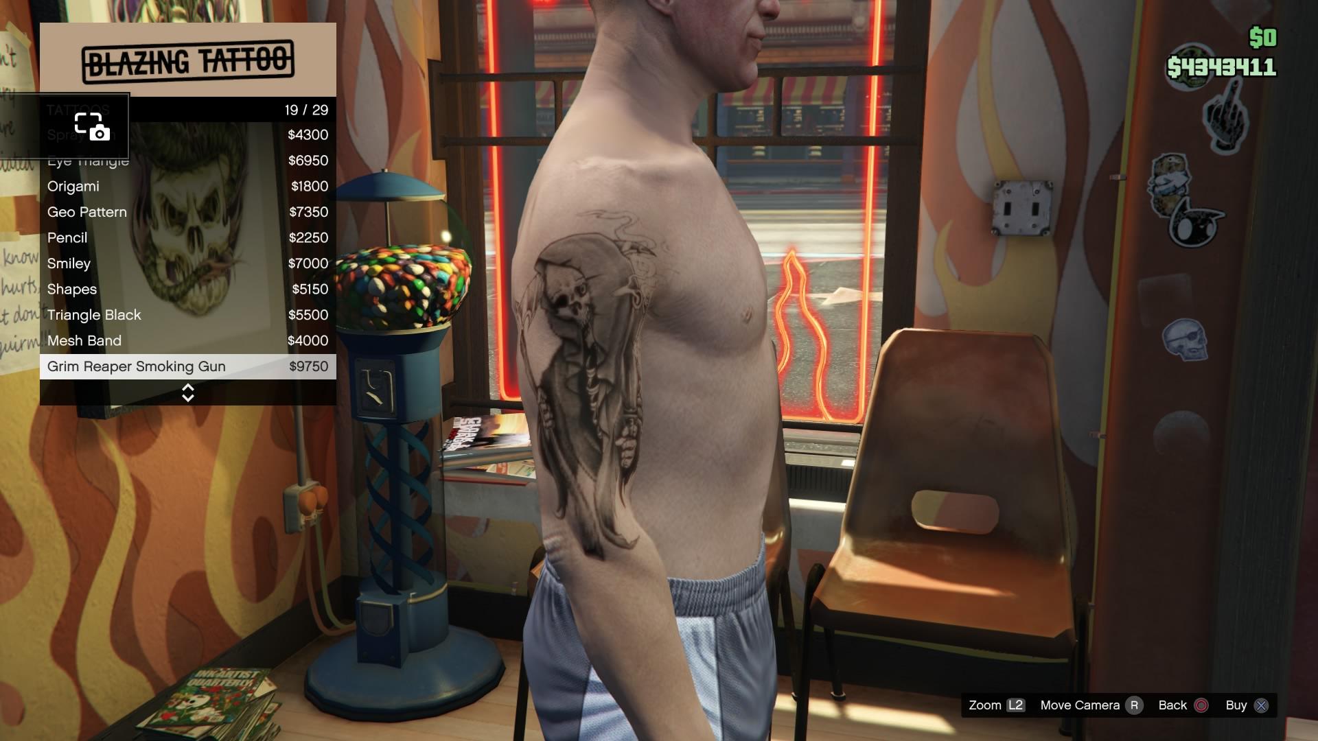 Smoking Gun Tattoo Designs
