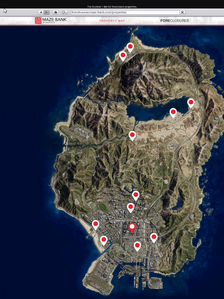 Clubhouses-GTAO-Location Map