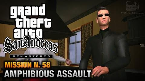 GTA San Andreas Remastered - Mission 58 - Amphibious Assault (Xbox 360 PS3)
