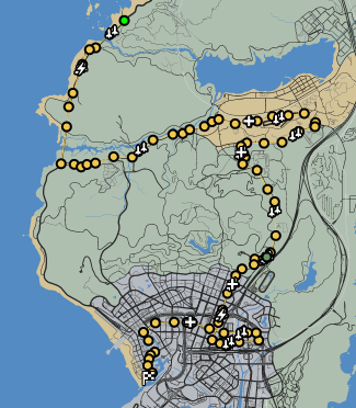 Grand Tour GTAO Race Map