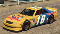 HotringSabre-GTAO-Liveries-16-BurgerShot-Yellow-FrontQuarter