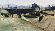 Derelict Motel GTAV Pool view Sandy Shores