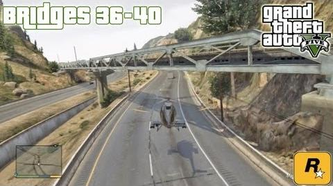 GTA5 Under The Bridges 36-40 (Aerial Challenges) Tutorial Grand Theft Auto V PS3 Xbox 360 ᴴᴰ