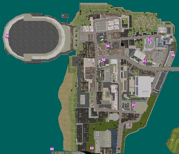 GTAVC HiddenPack 56-63 Downtown map