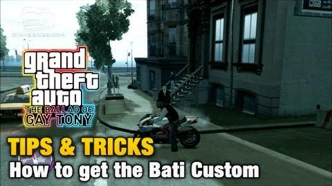 GTA The Ballad of Gay Tony - Tips & Tricks - How to get the Bati Custom