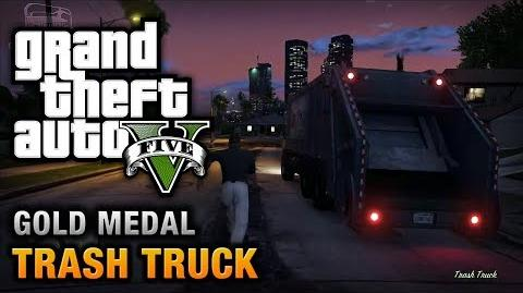 GTA 5 - Mission 37 - Trash Truck 100% Gold Medal Walkthrough