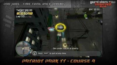GTA Chinatown Wars - Walkthrough - Time Trial Race - Patriot Park TT - Course 4