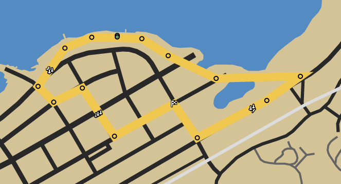 Shore Up GTAO Race Map