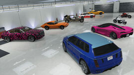 CESP-GTAO-9 DLC cars in 10 car Garage