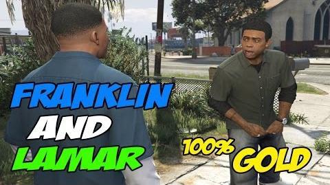 Franklin and Lamar - GTA 5 100 % Gold