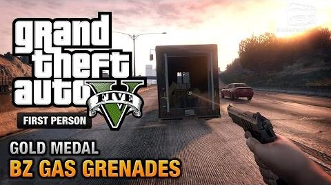 GTA 5 - Mission 15 - BZ Gas Grenades First Person Gold Medal Guide - PS4