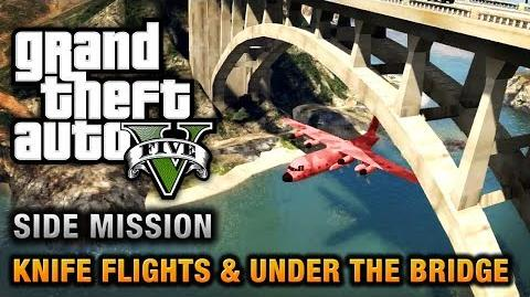 GTA 5 - Under the Bridge and Knife Flight Challenges Close Shave Achievement Trophy