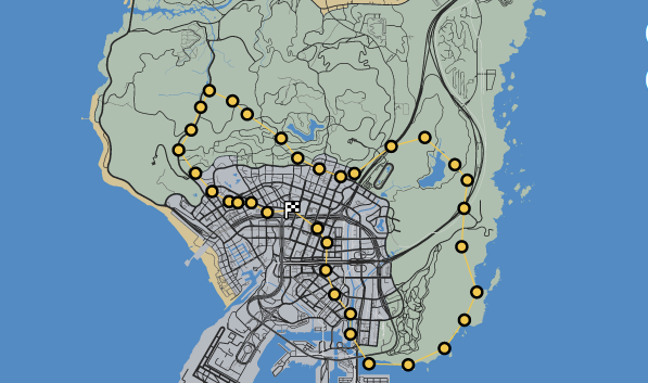 GTAO-Dedalus Race Map