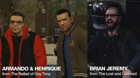 GTA Episodes from Liberty City Trailer - Meet Armando & Henrique Brian