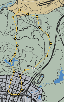 Stage Flight GTAO Race Map