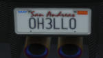 Custom Plate GTAO 0H3LL0