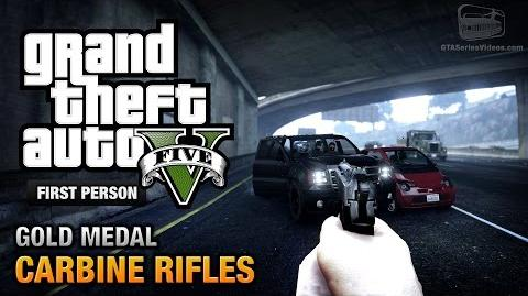 GTA 5 - Mission 12 - Carbine Rifles First Person Gold Medal Guide - PS4