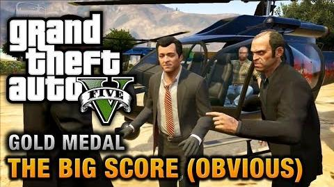 GTA 5 - Mission 79 - The Big Score (Obvious) 100% Gold Medal Walkthrough