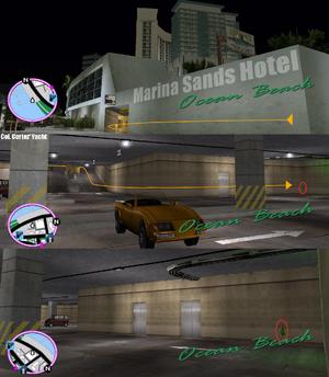 GTAVC HiddenPack 05 NW corner of underground car park in Marina Sands Hotel