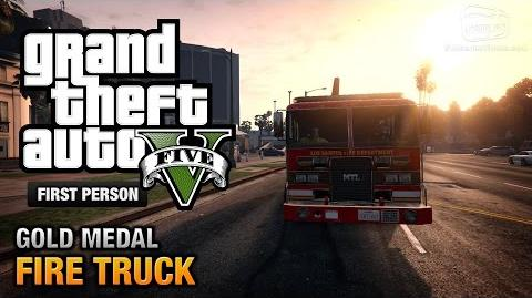 GTA 5 - Mission 65 - Fire Truck First Person Gold Medal Guide - PS4