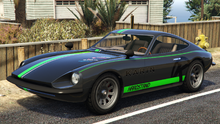 190z-GTAO-front-GreenKarinStreamLivery